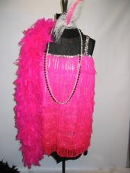 pink fringe flapper