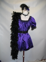 Purple Saloon Dress
