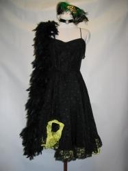 Yellow and Black Saloon Dress