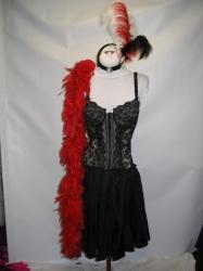 Black Sexy Saloon Dress